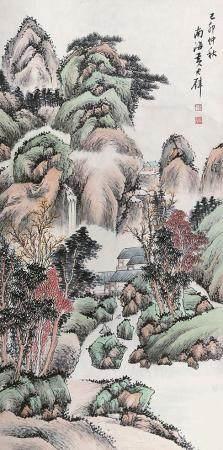 黄君璧 山水立轴