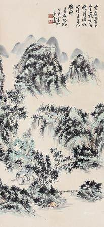 黄宾虹 山水立轴