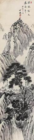 佚名 山水镜片
