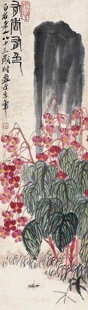 齐白石 花卉立轴