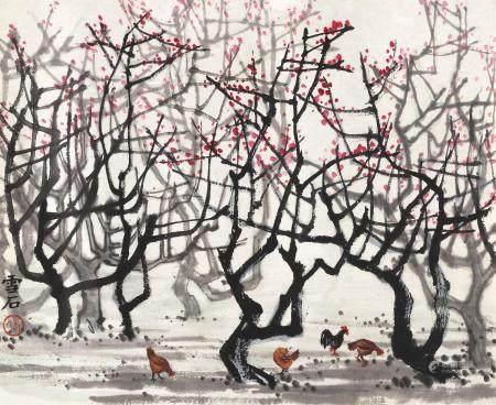 白雪石(1915~2011) 早春 镜心 设色纸本