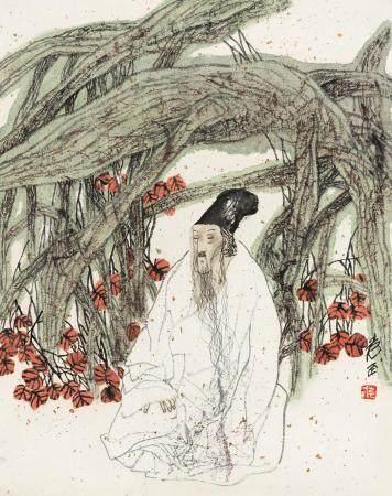 袁武(b.1959) 高仕图 镜心 设色纸本