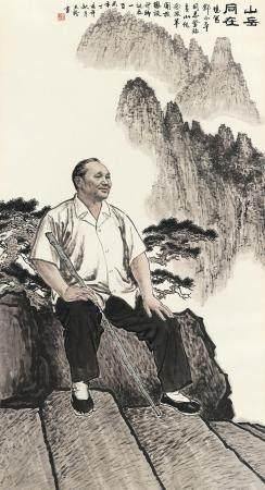 曹天舒(b.1940) 2007年作 山岳同在 镜心 设色纸本