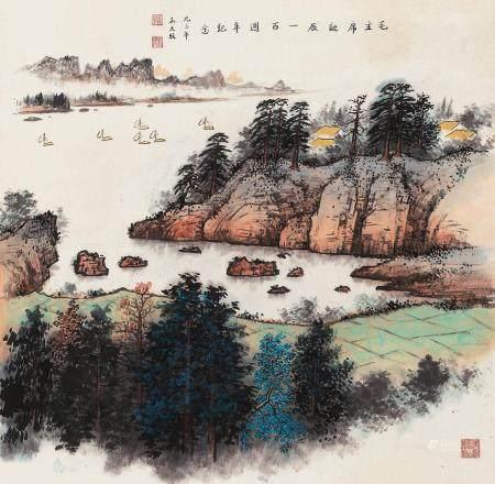 孙天牧(1911~2010) 1993年作 乡情 镜心 设色纸本