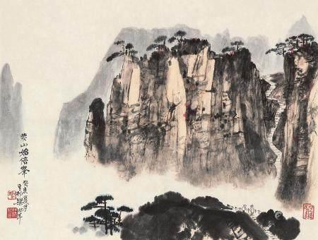 梁树年(1911~2005) 1983年作 黄山始信峰 镜心 设色纸本
