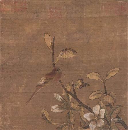 佚名 花鸟 镜片 设色绢本