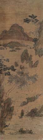 佚名 珍禽图 立轴 设色绢本