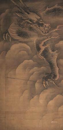 佚名 升龙图 立轴 设色绢本