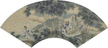 佚名  竹林七贤  包框