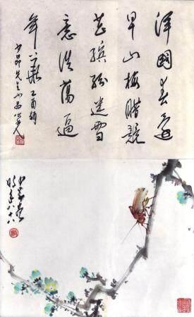 杨之光题/赵少昂款  花鸟  包框