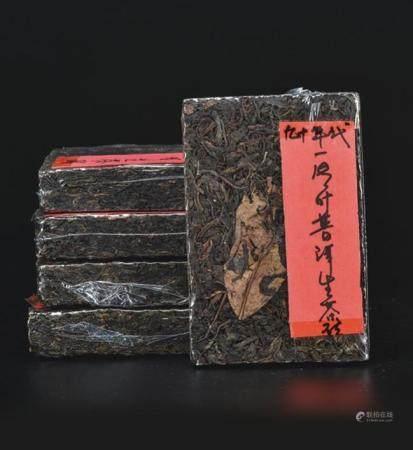 90年代  一片叶普洱生茶砖
