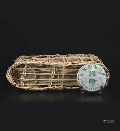 易武正山绿印生茶(竹箩)