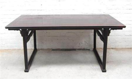 A Chinese Zitan Painting Table, Ming Style, Qing Dynasty, 19