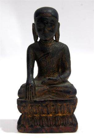 A Seated Young Buddha Tibet, with Traces of Gilt, 19th Centu