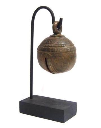 A Burmese Bronze Alloy Elephant Bell, Chu, Incised with a Ba