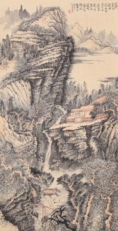 黄秋园 秋山图 立轴