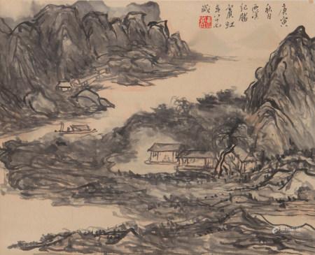 黄宾虹 山水 立轴