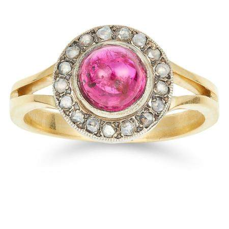 UNHEATED 1.92 CARAT RUBY AND DIAMOND RING set with a