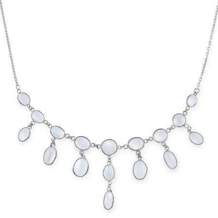 ANTIQUE ARTS & CRAFTS MOONSTONE NECKLACE set with oval