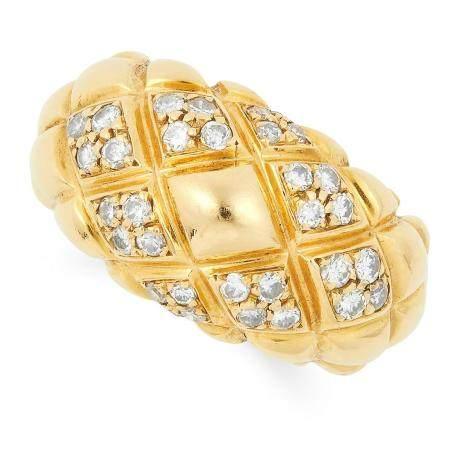 DIAMOND RING, CHAUMET set with round cut diamonds, size