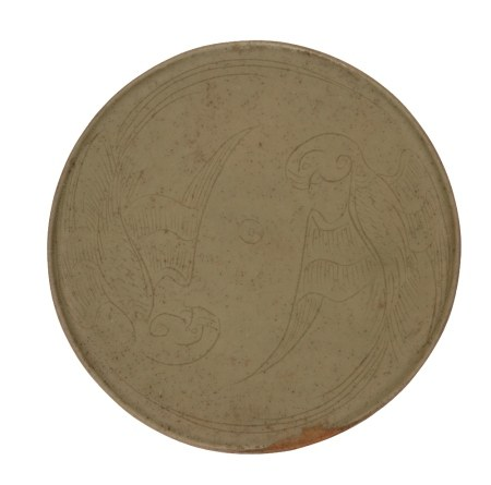 YUEYAO GREEN-GLAZED ROUNDEL, FIVE DYNASTIES PERIOD, 10TH CENTURY
