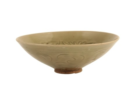 LARGE YAOZHOU 'PEONY-SCROLL' CARVED BOWL, NORTHERN SONG DYNASTY