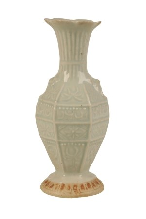 SMALL HEXAGONAL MOULDED QINGBAI VASE, SOUTHERN SONG DYNASTY