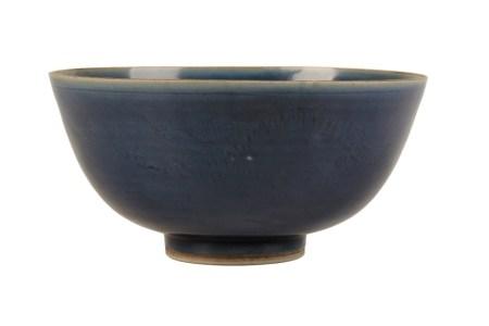 BLUE-GLAZED DEEP BOWL, TRANSITIONAL PERIOD