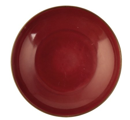 COPPER-RED GLAZED SAUCER DISH, KANGXI PERIOD