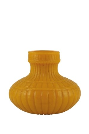OPAQUE YELLOW GLASS VASE, 18TH/19TH CENTURY