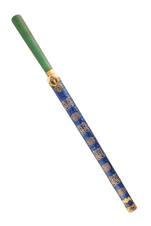 ENAMEL, IVORY AND STEEL KNIFE, 18TH/19TH CENTURY