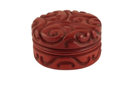 TIXI LACQUER CIRCULAR COVERED BOX, PROBABLY LATE MING / EARLY QING DYNASTY