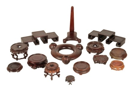 COLLECTION OF WOODEN STANDS etc (qty)