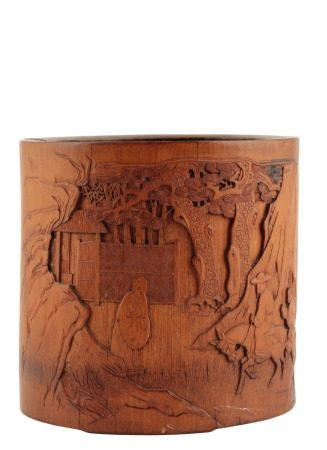 BAMBOO CIRCULAR BRUSHPOT, QING DYNASTY, 18TH / 19TH CENTURY