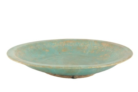 SALJUK TURQUOISE-GLAZED LARGE DISH, 12TH/13TH CENTURY