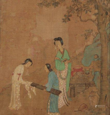 CHINESE SCHOOL (17th/18th century) A set of eight romantic narrative album leaves
