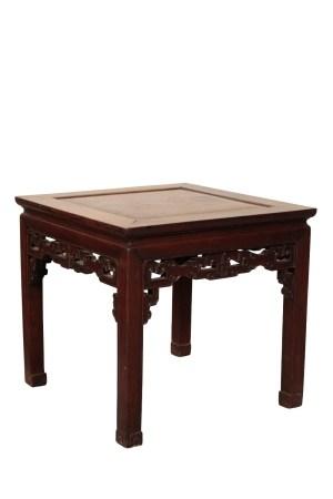 HUANGHUALI CORNER LEG LOW TABLE, QING DYNASTY, 18TH CENTURY