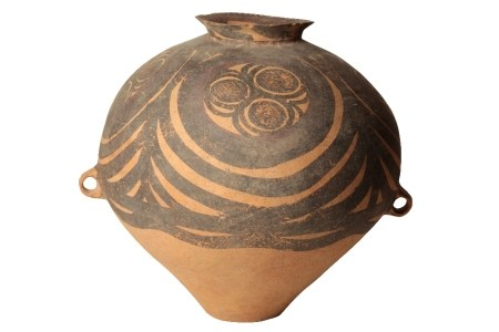 LARGE PAINTED POTTERY STORAGE JAR, NEOLITHIC PERIOD