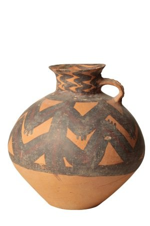 PAINTED POTTERY JAR, NEOLITHIC PERIOD