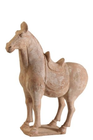 PAINTED POTTERY HORSE, TANG DYNASTY