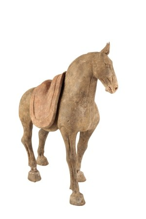 POTTERY HORSE, TANG DYNASTY