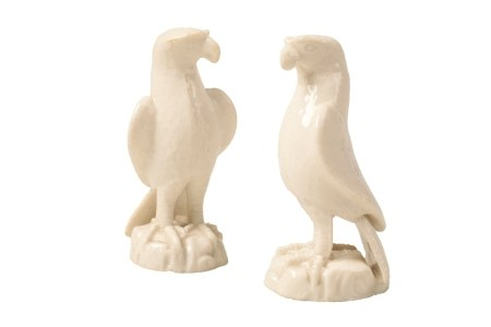 PAIR OF BLANC DE CHINE EAGLES, KANGXI PERIOD