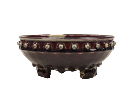 FLAMBÉ-GLAZE TRIPOD NARCISSUS BOWL, QING DYNASTY 18TH CENTURY
