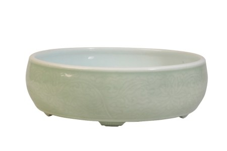 LARGE CELADON 'LOTUS' CENSER, QIANLONG PERIOD