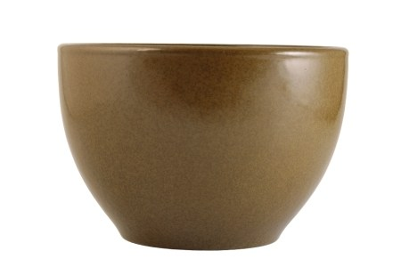 TEADUST-GLAZE DEEP BOWL, QIANLONG IMPRESSED SEAL MARK AND OF THE PERIOD