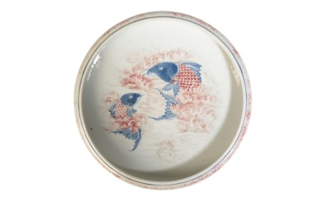 IRON-RED AND COBALT BLUE 'CARP' BRUSH WASHER, QIANLONG FOUR CHARACTER MARK