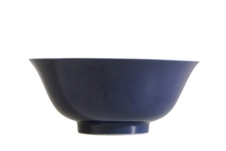 BLUE-GLAZE BOWL, QIANLONG SEAL MARK AND OF THE PERIOD