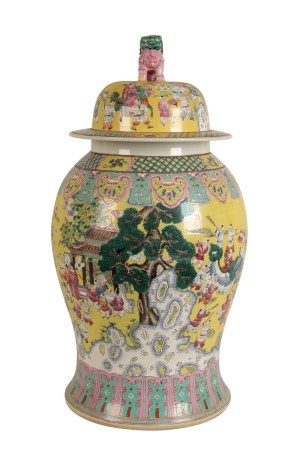 LARGE FAMILLE ROSE 'BOYS' VASE AND COVER, REBUBLIC PERIOD (1912-1949)