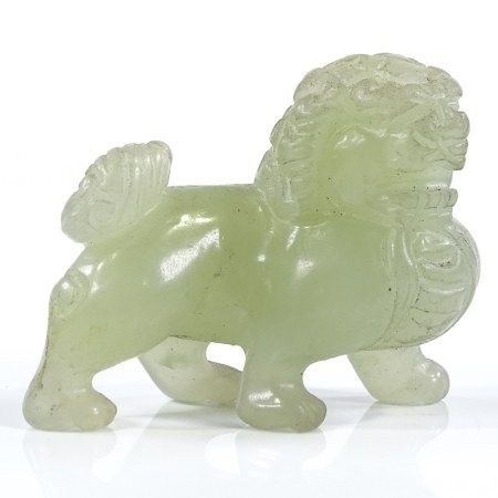 A Chinese carved jade Dog of Fo, length 6cm