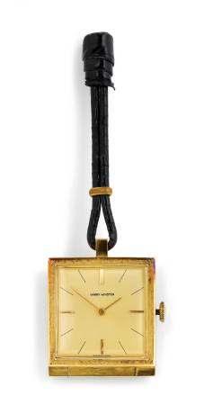 Harry Winston, rare miniature Travel Clock